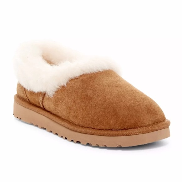 325ae2ed8e8 UGG Nita Genuine Shearling Trim Slipper chestnut